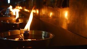 Oil lantern light for blessing Stock Photos
