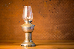 Oil lantern on old  steel background Stock Images