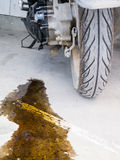 Oil leak Stock Photo