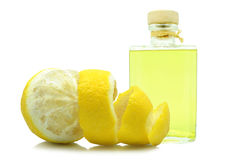 Oil of lemon peel Royalty Free Stock Images