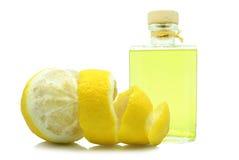 Oil of lemon peel royalty free stock images