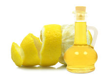 Oil of lemon peel Royalty Free Stock Image