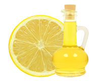 Oil of lemon Stock Photo