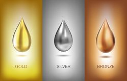 Oil liquid metal. Vector illustration. Royalty Free Stock Images