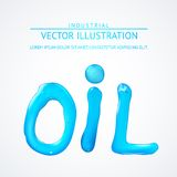 Oil liquid text. On a white background. Vector illustration Royalty Free Stock Photos