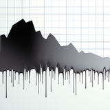 Oil loss of price graphic. Black oil loss of price graphic isolated on white stock illustration