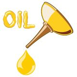 Oil Lubricator with oil Royalty Free Stock Images