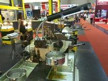 oil machine in metallex 2014 Royalty Free Stock Photos