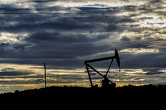 Oil Machine at Patagonian Landscape, Santa Cruz ,Argentina stock images