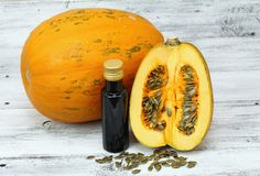 Oil made from pumpkin seeds Royalty Free Stock Images