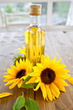Oil made from sunflowers Royalty Free Stock Photography