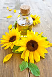 Oil made from sunflowers Stock Photography
