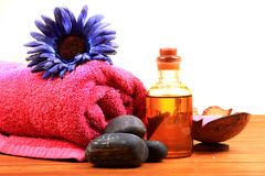 Oil massage royalty free stock image