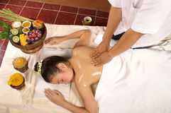 Oil massage Stock Photo