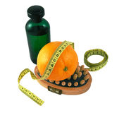 Oil, massage, orange. Oil, massager, orange and strap stock photos
