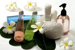 Oil for massage spa. Herb oil for massage spa stock images