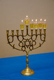 Oil Menorah. Menorah or chanukiah for the jewish holiday of chanukah, with oil lamps stock photography