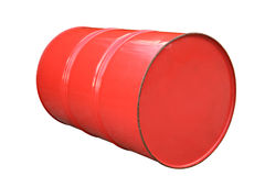 Oil metal barrel isolated on white. Stock Photography