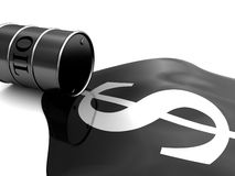 Oil and money Stock Photography