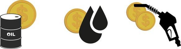 Oil money icon Stock Images