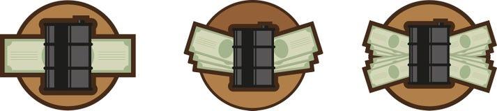 Oil money icon Royalty Free Stock Photos