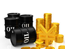 Oil money Royalty Free Stock Photos