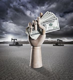 Oil money Royalty Free Stock Images