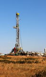 Oil & Natural Gas Well. Oil well in the Texas Panhandle stock photo