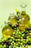 Oil and olives Royalty Free Stock Photos