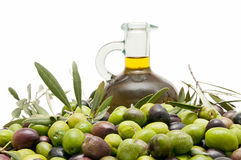 Oil and olives Stock Images