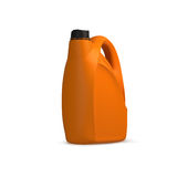 Oil orange canister recycle concept. Isolation on white Stock Photography
