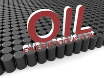 Oil overproduction concept Royalty Free Stock Images