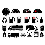 Oil_pack. Oil related products - also available as PES file royalty free illustration