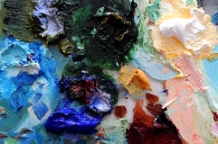 Oil paint Stock Photo