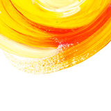 Oil paint abstract yellow element. Royalty Free Stock Images