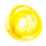 Oil paint abstract yellow sun. Stock Image