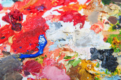 Oil paint blobs Stock Images