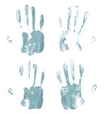 Oil paint hand palm prints Royalty Free Stock Photo