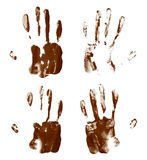 Oil paint hand palm prints Royalty Free Stock Images