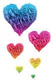 Oil paint heart Stock Images