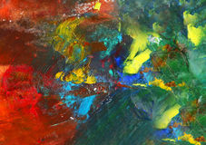 Oil paint mixed, the background Stock Images