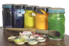 Oil Paint. Royalty Free Stock Photos