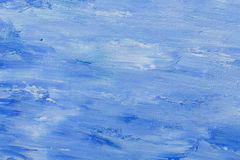 Oil paint texture, abstract blue background stock photo