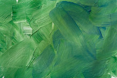 Oil paint texture, abstract green background Stock Images