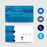 Oil painted business card Royalty Free Stock Image