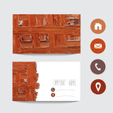 Oil painted business card Stock Photos