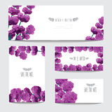 Oil painted cards set Royalty Free Stock Photography