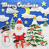Oil painted Christmas collage Stock Photography