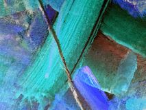 Oil painted detail Royalty Free Stock Photography