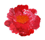 Oil Painted Flower Stock Image